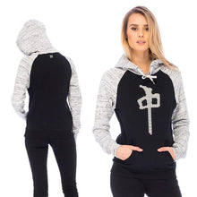 Load image into Gallery viewer, RDS WOMENS HOOD PUFF HEART RAGLAN