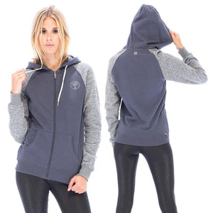RDS WOMENS ZIP PUFF POINT RAGLAN