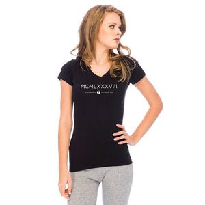 RDS WOMENS V-NECK ROMAN EMPIRE