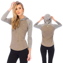 Load image into Gallery viewer, RDS WOMENS L/S HENLEY BILLY HOODED
