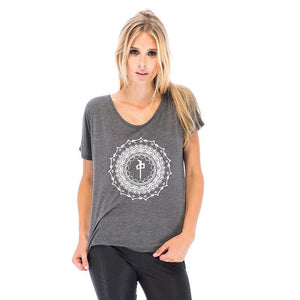 RDS WOMENS SCOOP NECK MANDALA