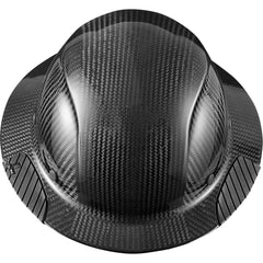 Dax Full Brim Fiber Reinforced Hard Hat - Carbon Fiber Black
