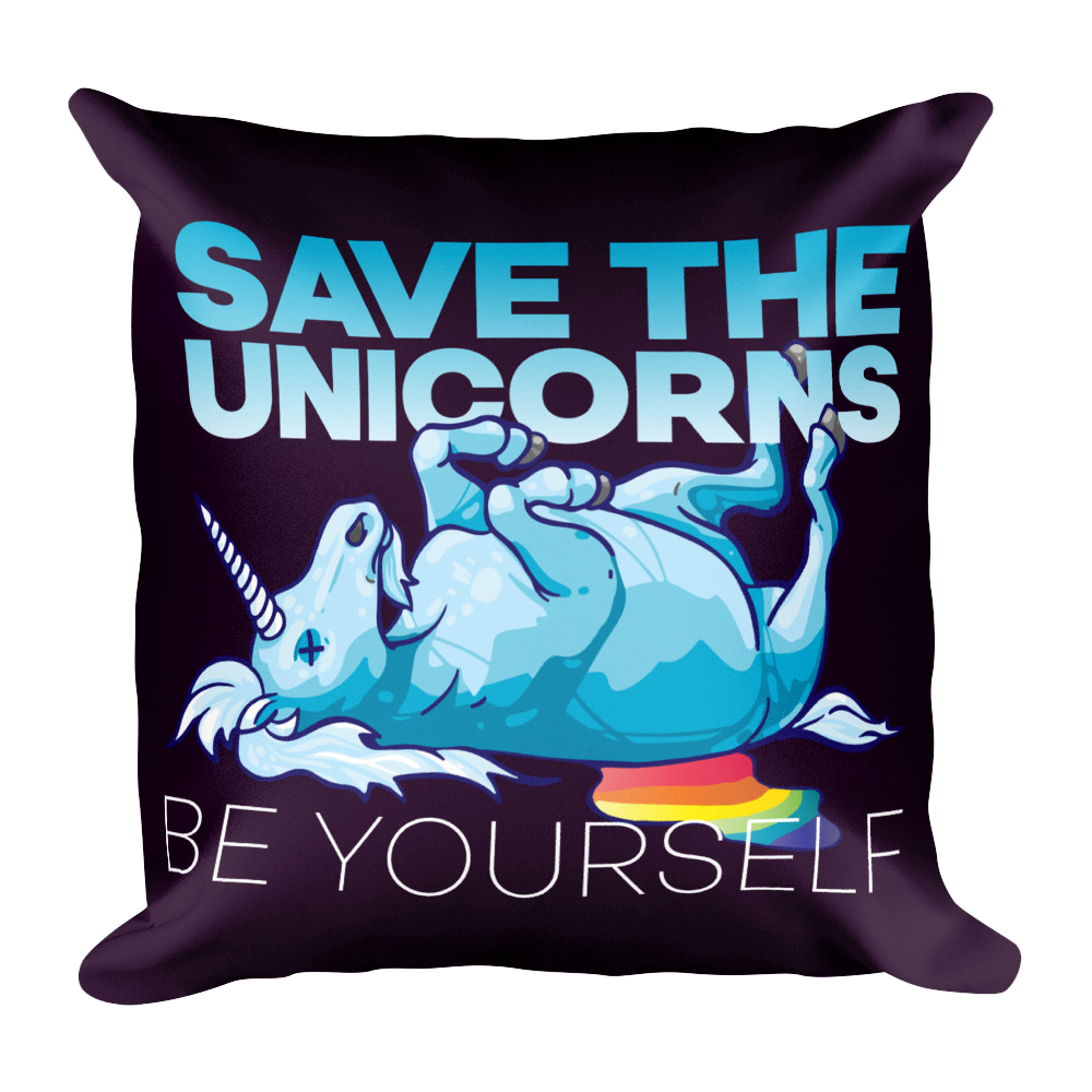 Save The Unicorns Pillow -  - Digibilly