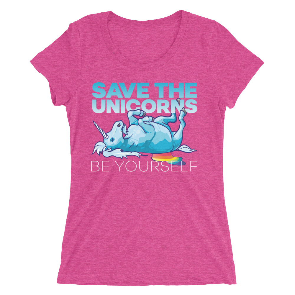 Women's Save The Unicorns T-shirt - Shirts - Digibilly