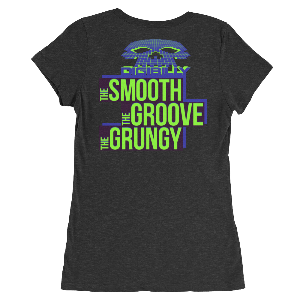 Women's The Smooth, The Groove, The Grungy T-shirt - Shirts - Digibilly