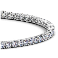 Load image into Gallery viewer, 14k White Gold Round Diamond Tennis Bracelet (3 cttw)
