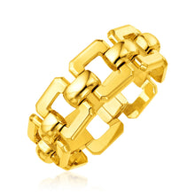 Load image into Gallery viewer, 14k Yellow Gold 8 inch Wide Square Link Bracelet
