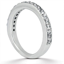 Load image into Gallery viewer, 14k White Gold Pave Diamond Wedding Ring Band Set 1/2 Around
