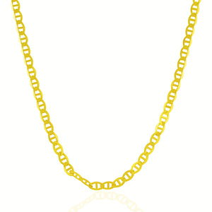 4.5mm 10k Yellow Gold Mariner Link Chain