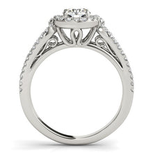 Load image into Gallery viewer, 14k White Gold Diamond Engagement Ring with Teardrop Split Shank (7/8 cttw)