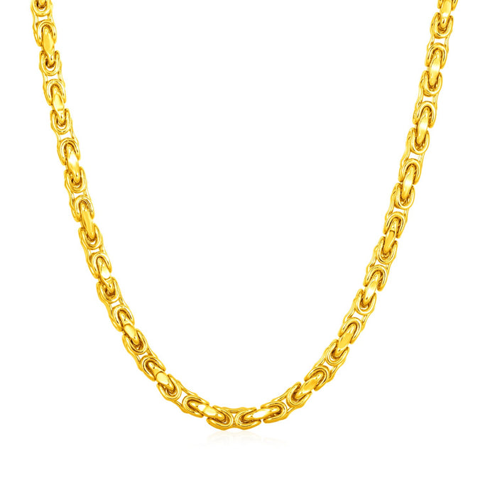 14k Yellow Gold Mens Link Necklace
