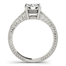 Load image into Gallery viewer, 14k White Gold Round Antique Style Diamond Engagement Ring (1 1/8 cttw)