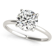 Load image into Gallery viewer, 14k White Gold Prong Set Round Diamond Engagement Ring (2 cttw)