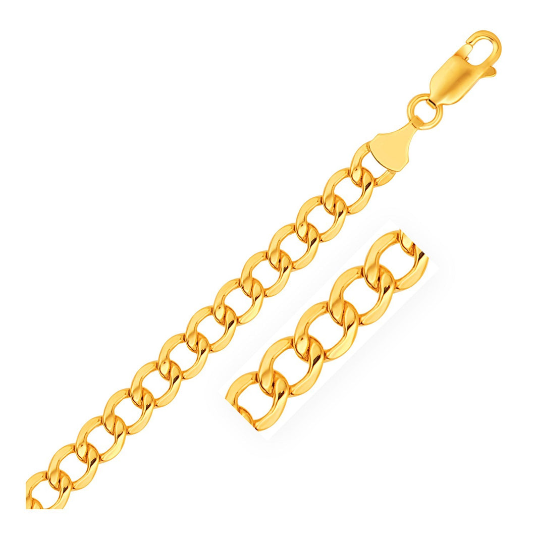 6.1mm 10k Yellow Gold Curb Chain