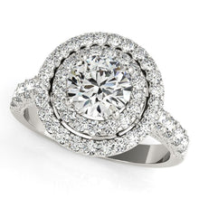 Load image into Gallery viewer, 14k White Gold Diamond Engagement Ring with Double Pave Halo (2 5/8 cttw)