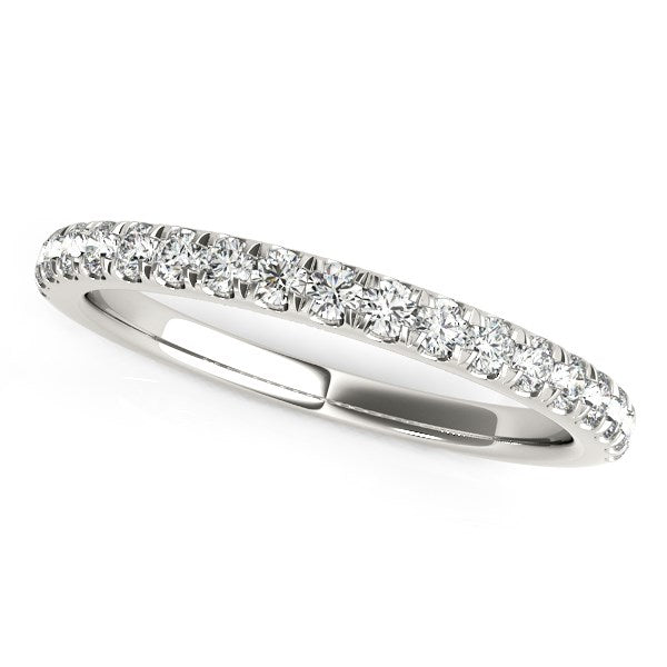 14k White Gold Pave Set Diamond Wedding Ring (1/4 cttw)