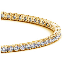 Load image into Gallery viewer, 14k Yellow Gold Round Diamond Tennis Bracelet (2 cttw)