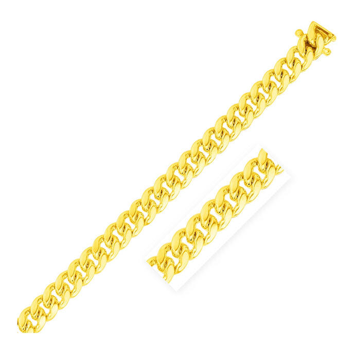 8.25mm 14k Yellow Gold Classic Miami Cuban Bracelet