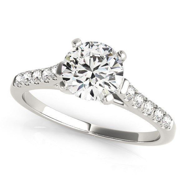 14k White Gold Cathedral Design Diamond Engagement Ring (1 1/8 cttw)