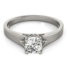 Load image into Gallery viewer, 14k White Gold Prong Set Style Solitaire Diamond Engagement Ring (1/2 cttw)