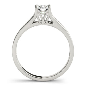 14k White Gold Prong Set Style Solitaire Diamond Engagement Ring (1/2 cttw)