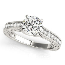 Load image into Gallery viewer, 14k White Gold Trellis Antique Style Diamond Engagement Ring (1 1/4 cttw)