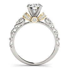Load image into Gallery viewer, 14k White And Yellow Gold Antique Style Diamond Engagement Ring (1 1/8 cttw)