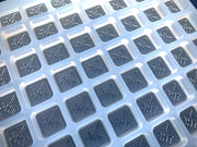 CO & OH State THC Logo Gummy Mold - Square Cavities - Half Sheet - 2.5 mL - 243 Cavities