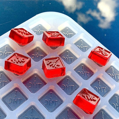 THC logo gummy mold for CO & OH