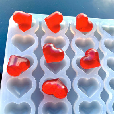 2.5 ml Heart Gummy Mold - Universal Depositor - 136 cavity