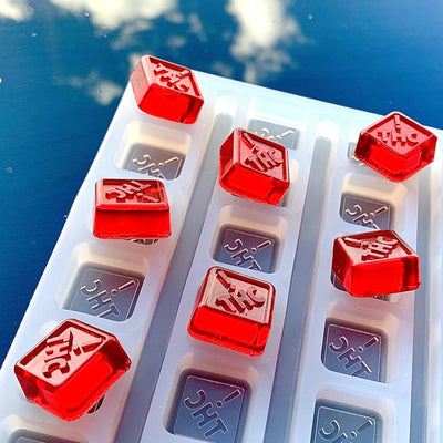 Square THC logo candies
