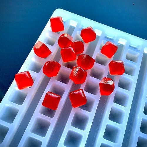 2 ml Square Gummy Mold - With Rounded Top - Universal Depositor - 176 cavity - Vector Molds