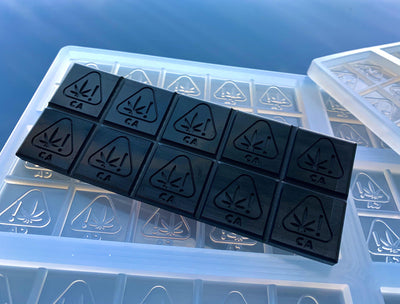 silicone chocolate bar mold with california state logo 6 cavities