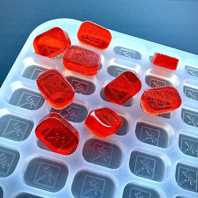 CO & OH State THC Logo Gummy Mold - Half Sheet - 4 mL - 186 Cavities - Vector Molds