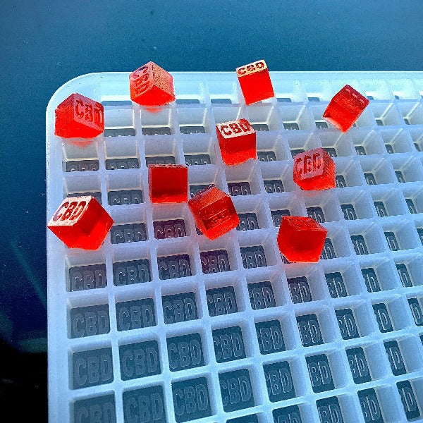CBD Cube Gummy Mold - Quarter Sheet Mold - 380 Cavities - Vector Molds