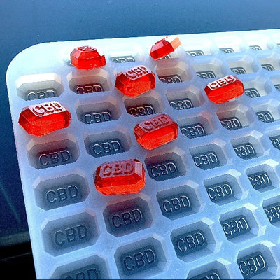 CBD Gummy Mold - 4ml - Rectangular Gem Shape gummies - 176 Cavities - Vector Molds