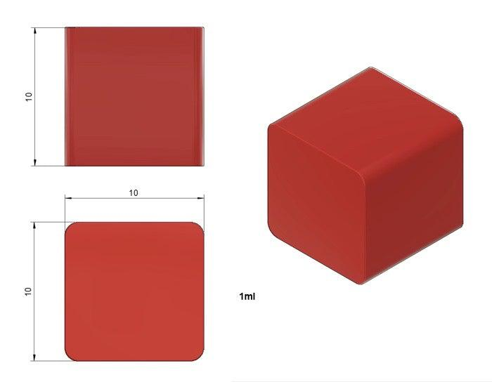 1cm Cube Mold - Full Sheet Mold - 1781 Cavities - Vector Molds