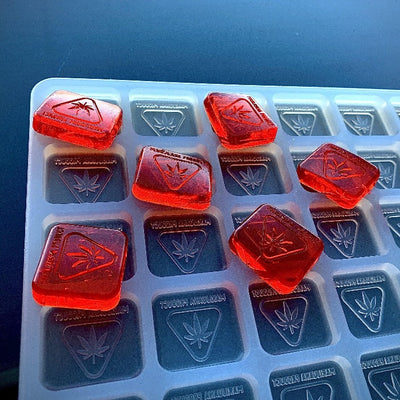 Michigan State THC Logo Gummy Mold - Square - 4 mL - 130 Cavity