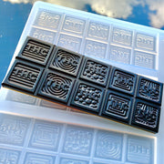 Trippy THC pieces chocolate bar mold