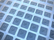 Washington state thc silicone gummy mold embossed with 21+ and pot leaf