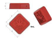 Washington State THC Logo Gummy Mold - Square - 5 mL - 140 Cavity - Vector Molds