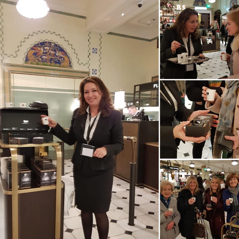 Shelton's Coffee tasting session in Harrods