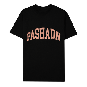 Heavy Black Fashaun College Essential Tee