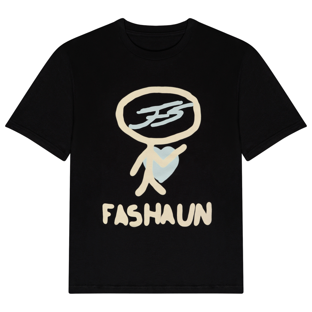 "PALE YELLOW AND MINT ""STICK"" FASHAUN T-SHIRT"