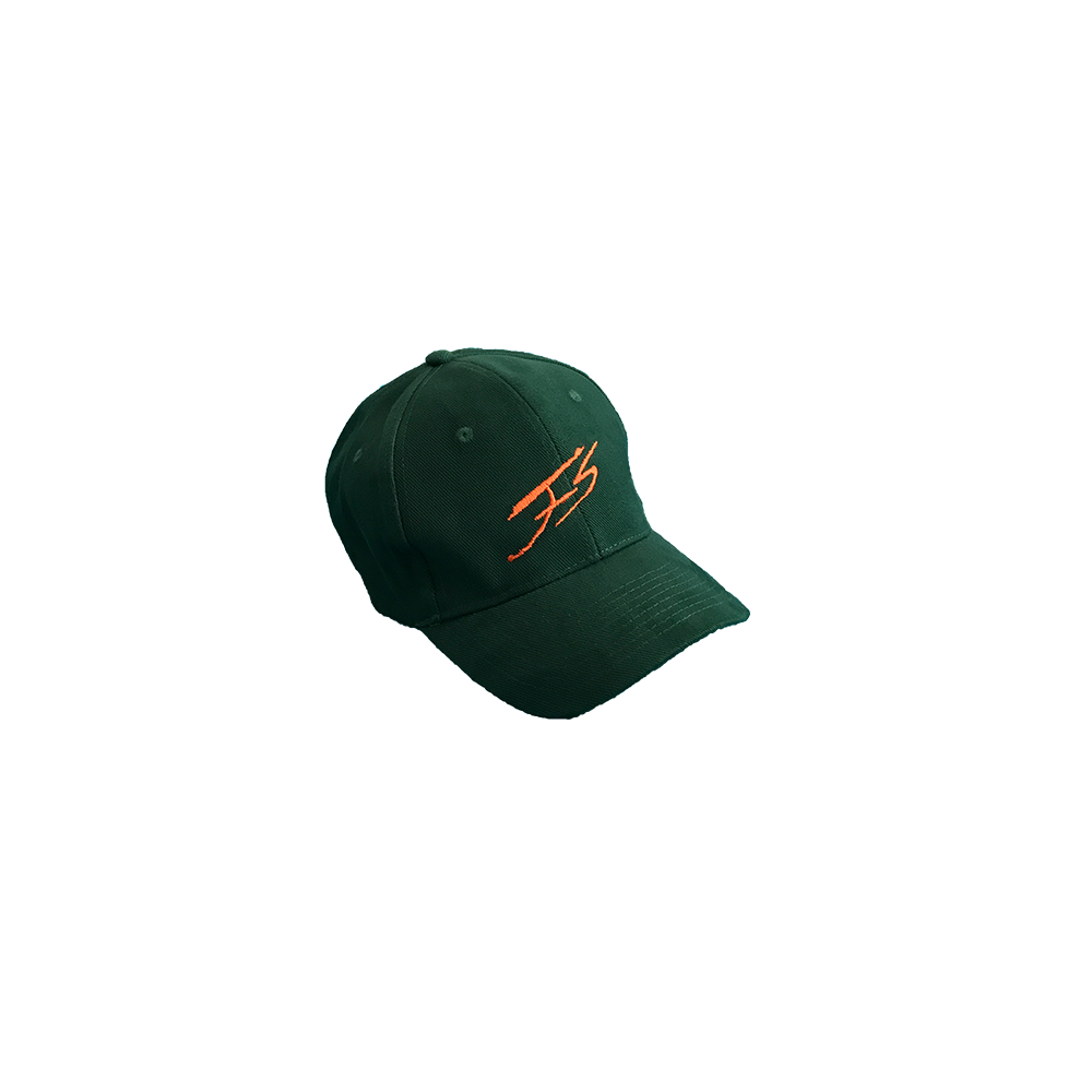 FOREST GREEN AND ORANGE SIGNATURE CAP