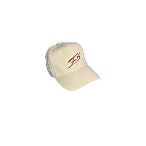 SAND AND BURGUNDY SIGNATURE CAP