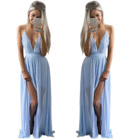 Long Sleeveless Boho Evening Party Dress