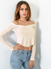 Load image into Gallery viewer, Bardot Curved Crop T-shirt