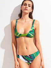 Load image into Gallery viewer, Womens swimsuits - Tropic Print Braided Strap