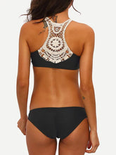 Load image into Gallery viewer, Swimsuit - Crochet Racerback Ruched